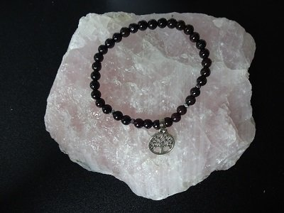 Dames armband Granaat Tree of Life