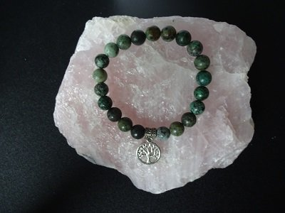 Dames armband Afrikaans Turquoise Tree of Life